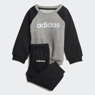 Linear Fleece Jogger Set Medium Grey Heather / Black / White DV1266