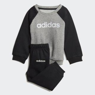 Linear Fleece joggingsæt Medium Grey Heather / Black / White DV1266
