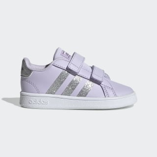 Grand Court Shoes Purple Tint / Matte Silver / Cloud White EH0187
