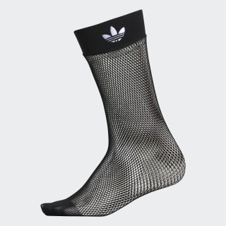 Fishnet Ankle Socks Black CJ7646