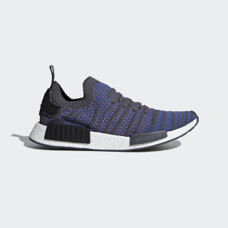 NMD_R1 STLT Primeknit Shoes Hi-Res Blue / Core Black / Chalk Coral CQ2388