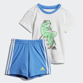 Комплект: футболка и шорты Animal white / shock lime DV1253
