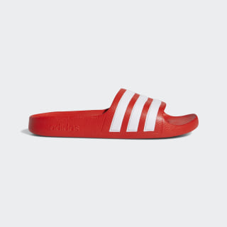 Adilette Aqua Slides Active Red / Cloud White / Active Red EF1750