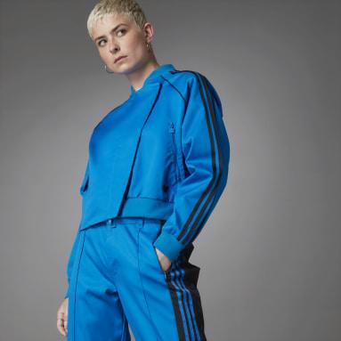 Women Originals Blue Asymmetric Superstar Track Top