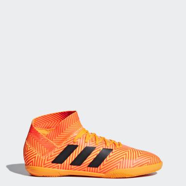 Calzado de Fútbol Nemeziz Tango 18.3 Bajo Techo Naranja Niño Fútbol