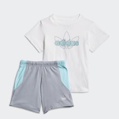 Infant & Toddler Originals White adidas SPRT Collection Shorts Graphic Tee Set