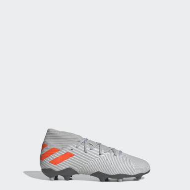 Boys Football Grey Nemeziz 19.3 Firm Ground Boots