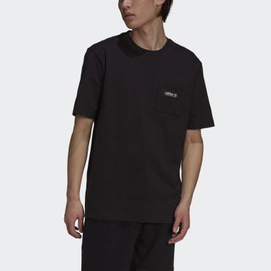 Camiseta adidas Adventure Futura Pocket Negro Hombre Originals