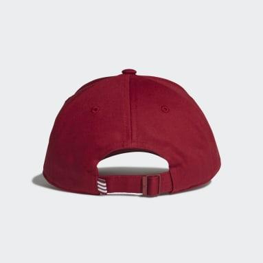 Cappellino Trefoil Baseball Bordeaux Originals