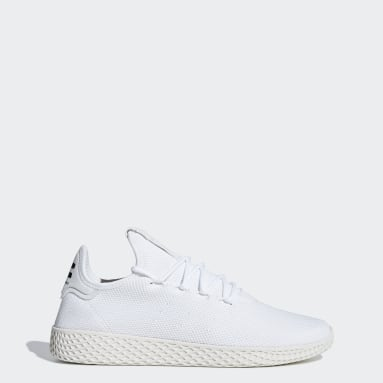 Women Originals White Pharrell Williams Tennis Hu Shoes