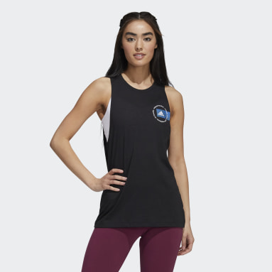 Women's Sportswear Black Yoga Graphic Tank Top