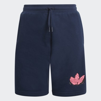 Youth Originals Blue Funny Dino Graphic Shorts