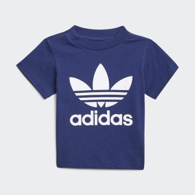 Conjunto camiseta y pantalón corto Trefoil Azul Niño Originals