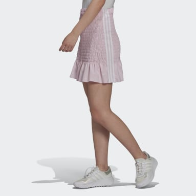 Women Originals Pink Smocked Skirt