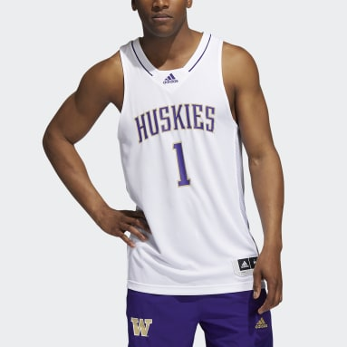 Men's Basketball White Huskies NCAA Swingman Jersey