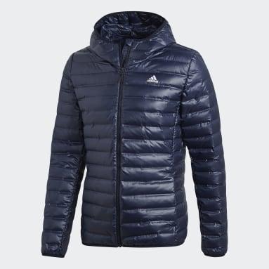 Men City Outdoor Blue Varilite Hooded Down Jacket