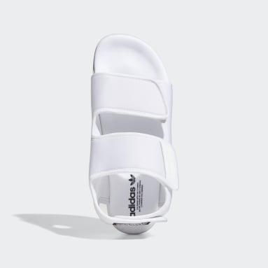 Men Originals White Adilette 3.0 Sandals