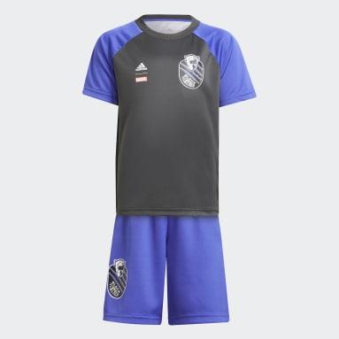 синий Комплект: футболка и шорты Marvel Black Panther