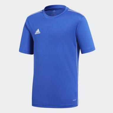 Kids Gym & Training Blue Core 18 Training Jersey