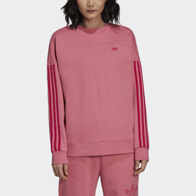 Sudadera Sporty Cut Line Colored Stripes Rosa Mujer Originals