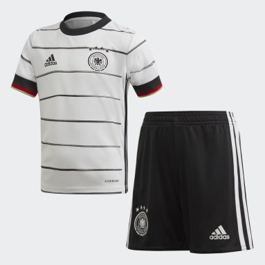 Kinderen Voetbal Wit Duitsland Mini-Thuistenue
