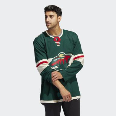 Men's Hockey Green Wild Home Authentic Jersey