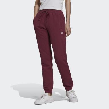 Kvinder Originals Burgundy Adicolor Essentials Slim joggingbukser