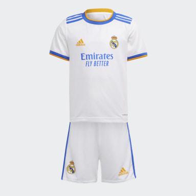 Divisa Mini Home 21/22 Real Madrid Bianco Bambini Calcio