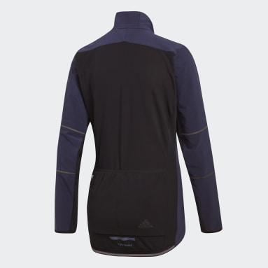Camiseta de Ciclismo Climaheat Winter Azul Mujer Ciclismo