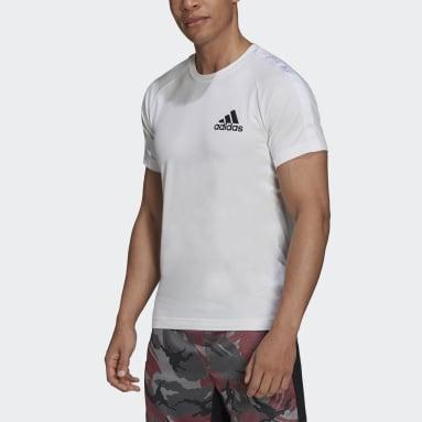 Men Gym & Training White AEROREADY Designed to Move Sport Motion Logo Tee