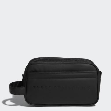 ผู้ชาย กอล์ฟ สีดำ กระเป๋าขนาดเล็ก Primegreen Polyurethane Two-Zip