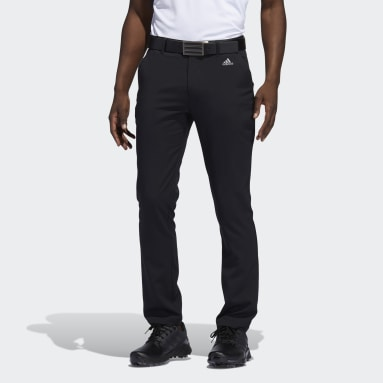 Men Golf Black Recycled Content Tapered Golf Pants