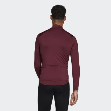 Maillot The COLD.RDY Long Sleeve Cycling Bordeaux Hommes Cyclisme