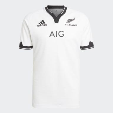 Camiseta segunda equipación All Blacks Primeblue Réplica Blanco Hombre Rugby