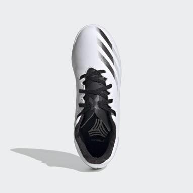 Zapatilla de fútbol X Ghosted.4 Indoor Blanco Niño Futsal