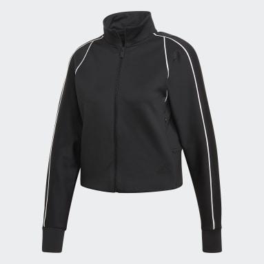 Women Sportswear Black Style Track Jacket