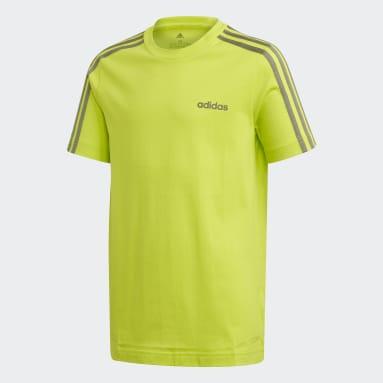 T-shirt Essentials3-Stripes Vert Garçons Sportswear