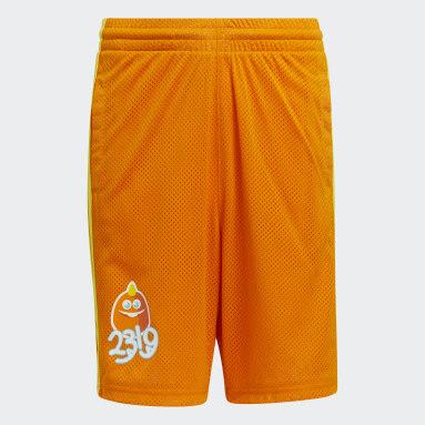 Short Big Kids George Sanderson Orange Enfants Basketball