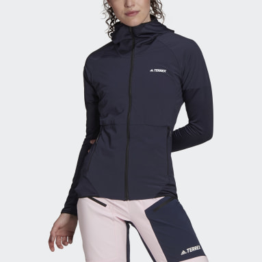 Ženy TERREX modrá Vetrovka Terrex Skyclimb Fleece