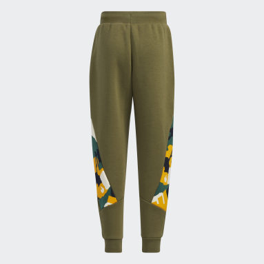 Pantalon Fleece Vert Garçons Fitness Et Training