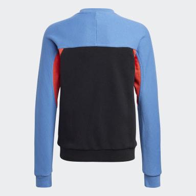 Kids Originals Blue adidas Adventure Crew Sweatshirt