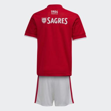 Divisa Mini Home 21/22 Benfica Rosso Bambini Calcio