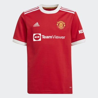 Boys Football Red Manchester United 21/22 Home Jersey