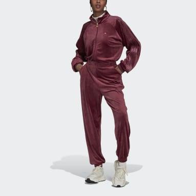 Boilersuit Cozy Velvet Bordeaux Donna Originals