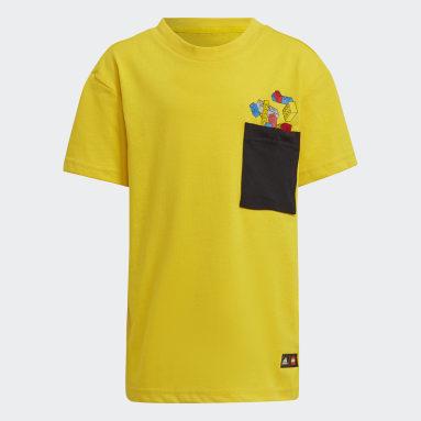 T-shirt adidas x Classic LEGO® Pocket jaune Enfants Entraînement
