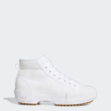 Women Originals White Nizza Trek Shoes