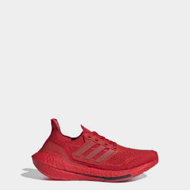 Youth Running Red Ultraboost 21 Shoes
