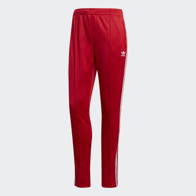 Pants deportivos SST - Corte Medio Rojo Mujer Originals