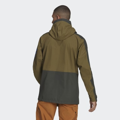 Men TERREX Green Terrex Xploric Rain Jacket
