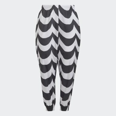 Dam Originals Svart Marimekko Cuffed Woven Track Pants (Plus Size)